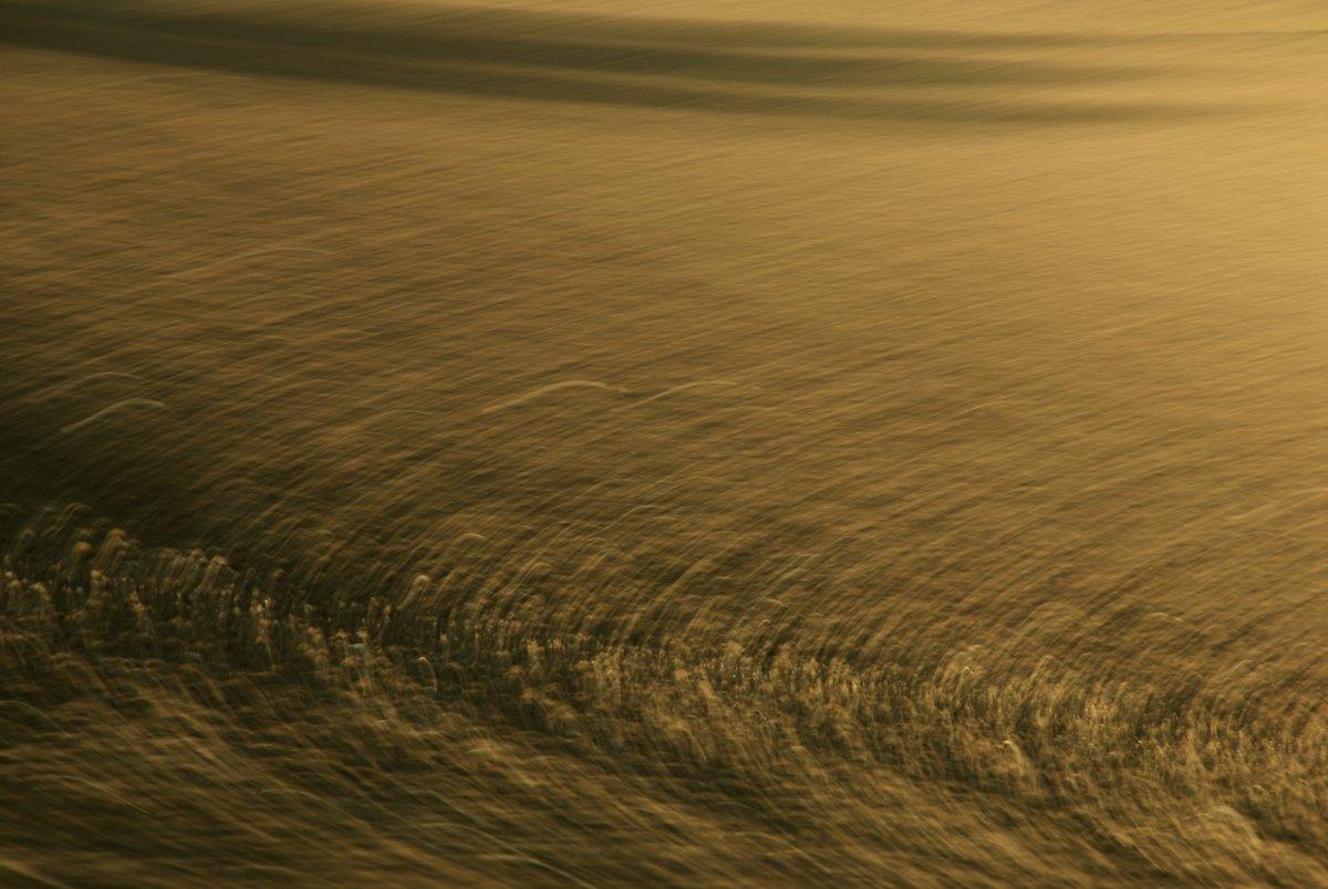 abstrakte Landschaftsfotografie, durch Bewegung entstandene Kreismuster in warmen Brauntönen
